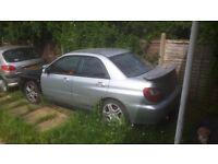 Subaru impreza wrx 2002 needs to go turbo blown but still runs been sat for over a year