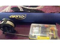 Air flow 9ft #6/7 reel and a mix of flies and lures