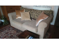 """Sofa, from """"Next"""" retailer, light colour, excellent clean condition, 2 seater"""