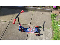 Kids Spiderman Scooter Good Condition