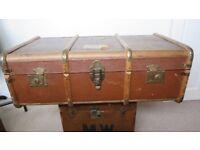 steamer luggage trunk