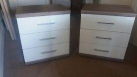 Two wiemann bedside tables for sale.