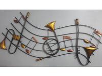 Musical metal wall art