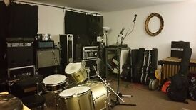 Band practice Rehearsal studios and music production studios for monthly hire BN41