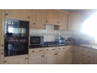 Kitchen units in a light oak. Due to refit 22nd january