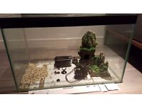 60L fish tank with Filter, Ornament and some Gravel
