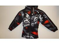 wulfsport jacket motocross motox quad kids youth orange and black size 26 approx age 5