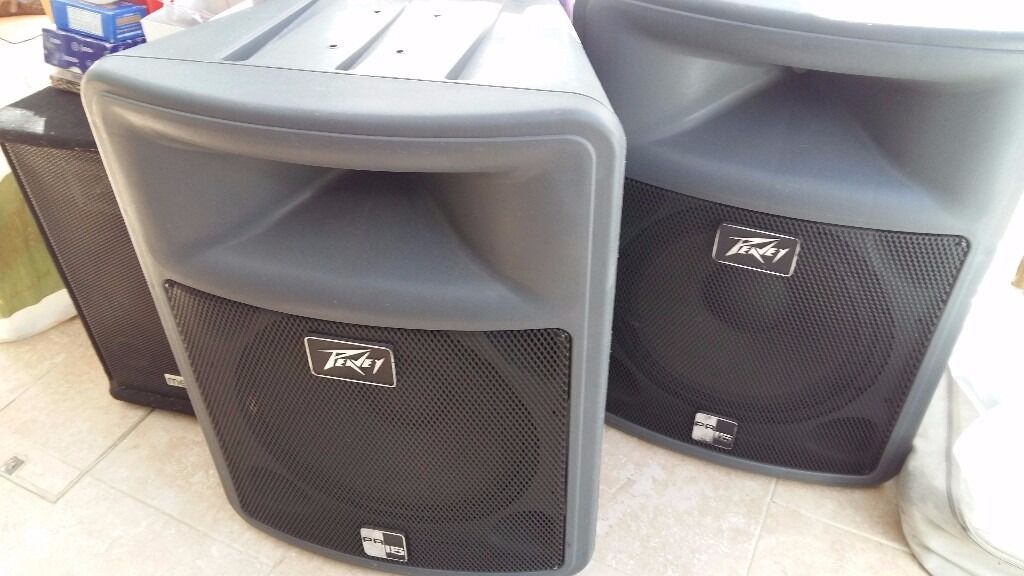 ec06014752a5 pair of 400w Peavey speakers PR15