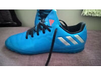 pair of adidas messi astro turf football boots