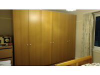 Large IKEA wardrobes with internal drawers and shelves for sale