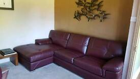 Corner Sofa in leather