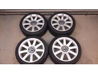 "VW wheels with new tyres 18"" 5x100"