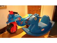 Spiderman Ride-on, Little Tikes Horse