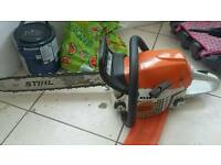 Stihl Ms251 petrol chainsaw 18 inch bar new chain full working order not lawnmower