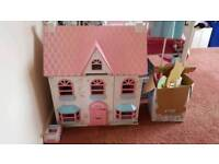 ELC Dolls House and Tree house set