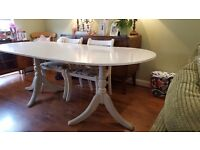 Vintage Retro Style County Cottage Style Dining Table