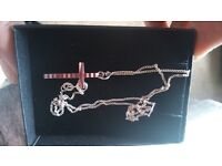 16 inch silver chain and cross boxed NEW