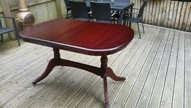 4 seater mahogany dining table and chairs
