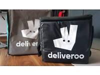 Deliveroo bag and thermal bag