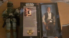 han solo and boba fett 12 inch figures