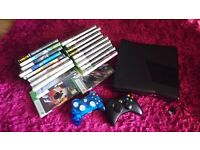 Xbox 360 console 250gb Kinect, docking charger plus 20 games