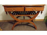Ornate 2 drawer hall table