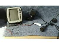 Garmin 80 fishfinder complete with transducer, plus mounting bracket, dash mount and power cable