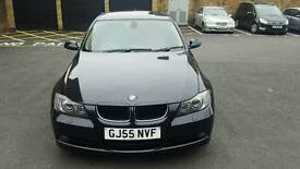 BMW 3 SERIES 320D (GJ55 NVF) SE 2005. AUTOMATIC. BLACK. 1 FORMER KEEPER. MOT TILL AUGUST 2017.