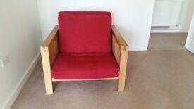 Futon armchair - incredibly sturdy