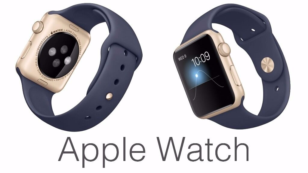 Apple watch 42mm Gold aluminium Case with Midnight Blue Sport Bandin North London, LondonGumtree - Apple watch 42mm Gold aluminium Case with Midnight Blue Sport Band. Brand new with box. £200 NO Offers will not sell for less than £200 this is brand new genuine original Apple watch. Come and collect from my work place. North London Tottenham N17