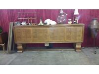 Art Deco Antique Huge Burn wood And Oak French Sideboard Antique Bar Counter Pub 1910 Wimbledon