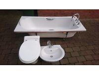 Bathroom Suite - Bath/Sink/Toilet (Ideal Standard, Twyford taps)