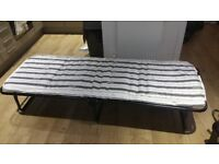 Folding bed and mattress - single - excellent for guests