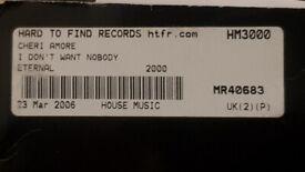 x2 records. cheri amore - i don't want nobody (promo version)