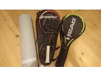 Selling my nearly new tennis racquets
