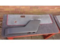 FORD ESCORT MK3 XR3i S1 RS TURBO FRONT DOOR CARDS COMPLETE WITH UPPER TRIMS