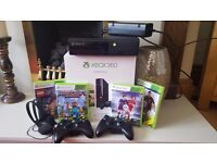 XBOX 360 E 500GB (+ controllers, games and headset)