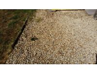 Used gravel / chippings / shingle - bring your own bags, £1 a bag, will help to fill bags