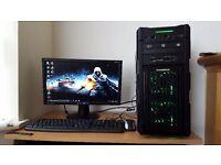 Ultra Fast Gaming PC Quad Core i7 Microsoft Windows10 Pro 16GB RAM 1TB HDD