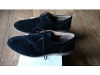 Black Hushpuppy-type shoes, size 45/10.5 - brand-new, boxed, never worn