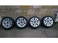 BMW E60/61 alloy wheels (Style 116) 225/50 R17 with winter tyres