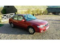 TOYOTA COROLLA 1400CC Manual, Red, Only 64000 Miles from new!