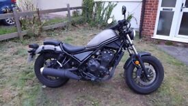 Honda CMX 500 REDUCED - excellent condition, sold as new