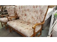 Vintage 2 Seater Sofa & Armchair
