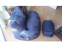Water Resistant | Large Bean Bag | Relaxing Chair with Matching Footstool