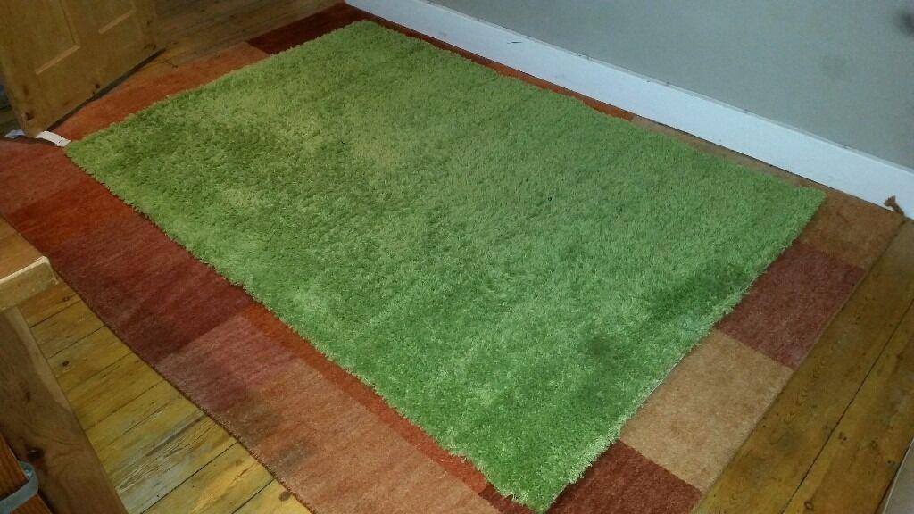 Hampon Ikea Rug Green 133 x 195 cm
