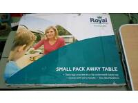 Royal small pack away table.