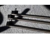 Doors/cupboard chrome handles x3 with screws