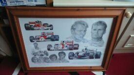 Tribute to McLaren by Stuart McIntyre (Framed print)