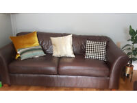 Marks & Spencer's Luxury Brown Soft Leather Sofa's